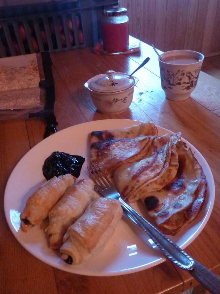 Le petit déjeuner au matin