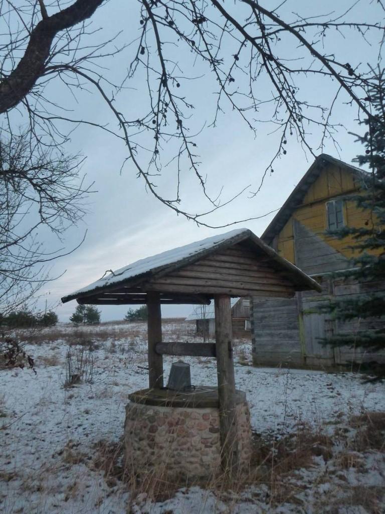Le puit, élément incoutournable de chaque maison de Lituanie