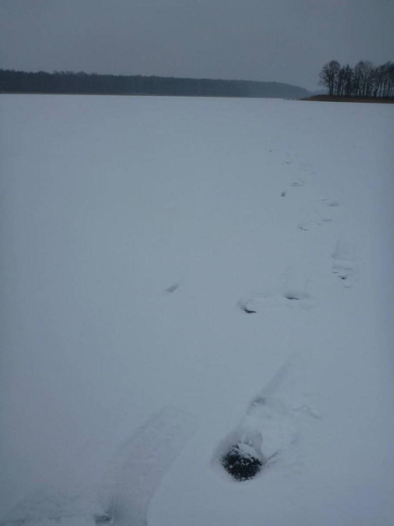 Quatre kilomètres marchés au milieu d'un grand lac
