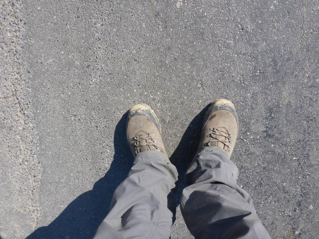 Gros problèmes avec mes nouvelles chaussures : Elles ont tout bonnement rétréci, cela dut certainement à un feu un peu trop chaud