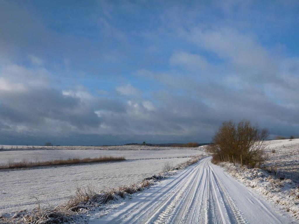 Le bonheur de marcher de nouveau sur un semblant de neige