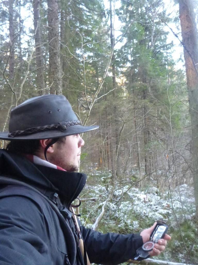 Il n'est pas facile par moment de s'orienter lorsqu'il n'y a que de la forêt