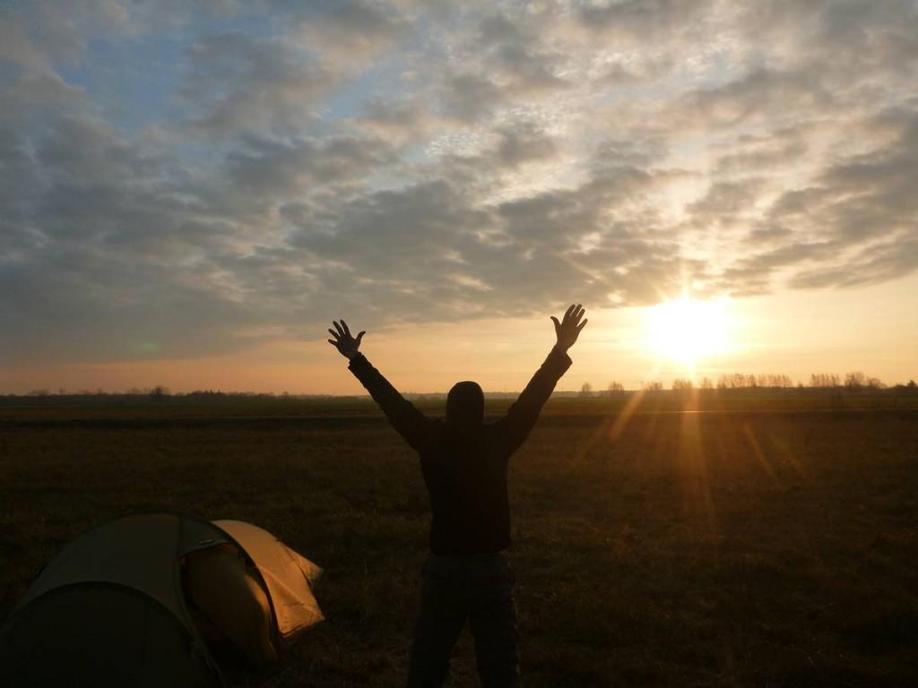 Le premier rayon de soleil depuis deux semaines