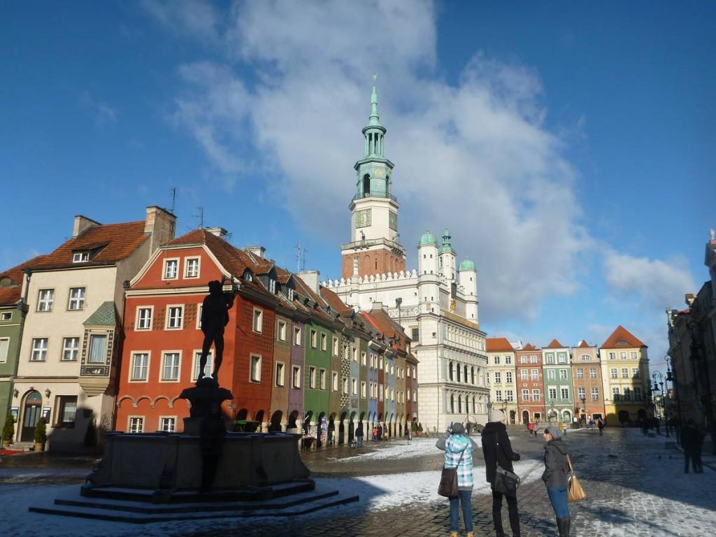 J'arrive à Poznan, une ville où je reste une bonne semaine