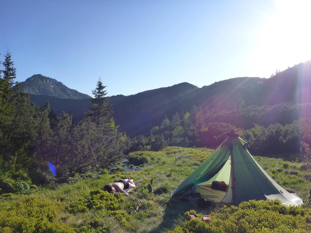 Campement dans ce coin paradisiaque