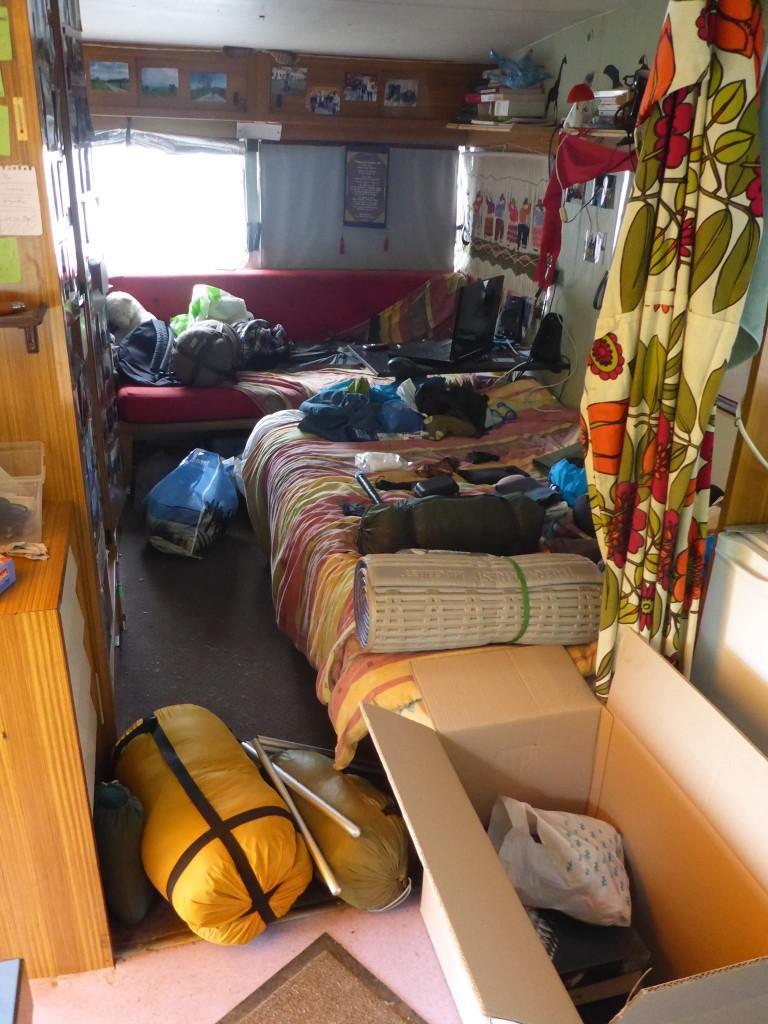 Rangement de ma caravane dans laquel j'ai vécu