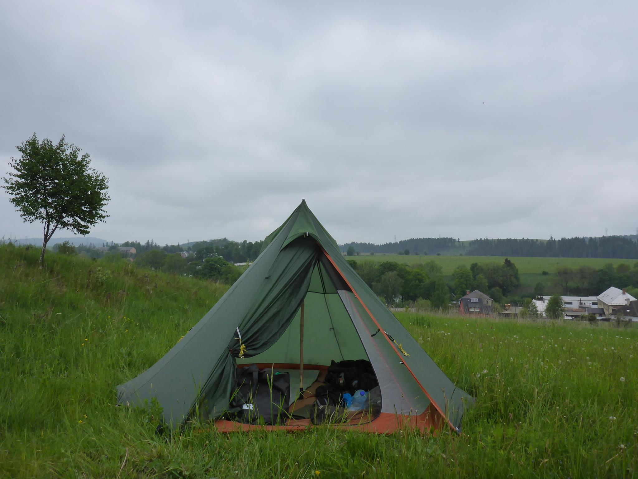 Premier bivouac dans ma ma nouvelle tente