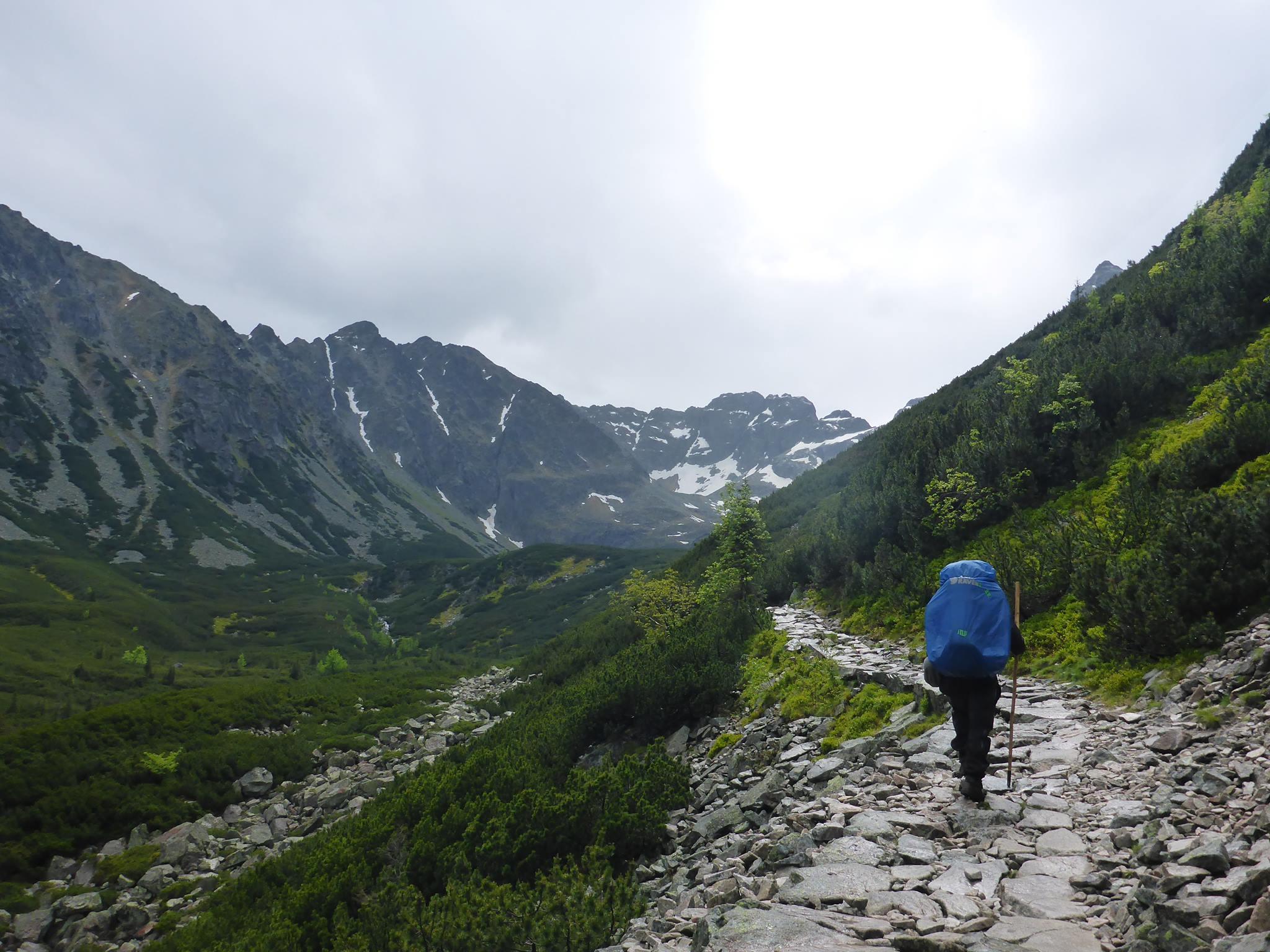 Je pars pour la seconde partie du massif des Tatras