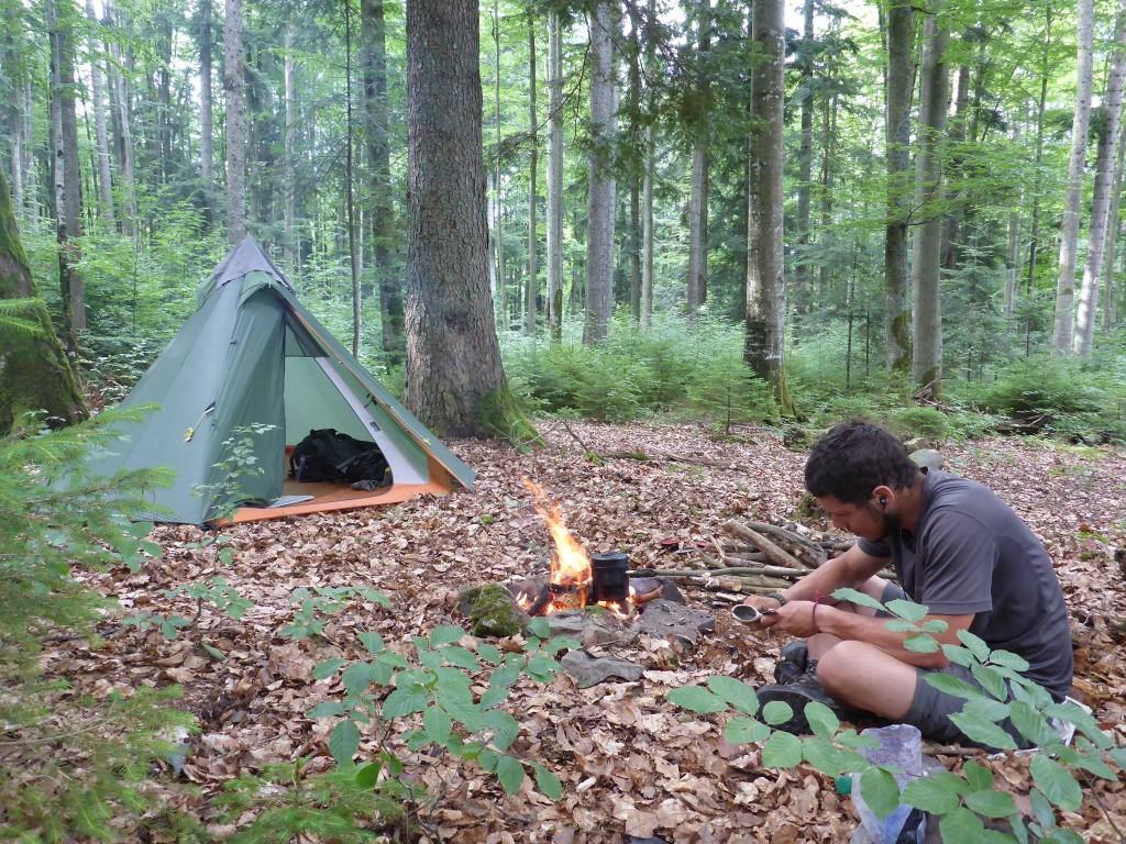 Je me pose une journée entière dans une forêt afin de profiter plus calmement de la nature