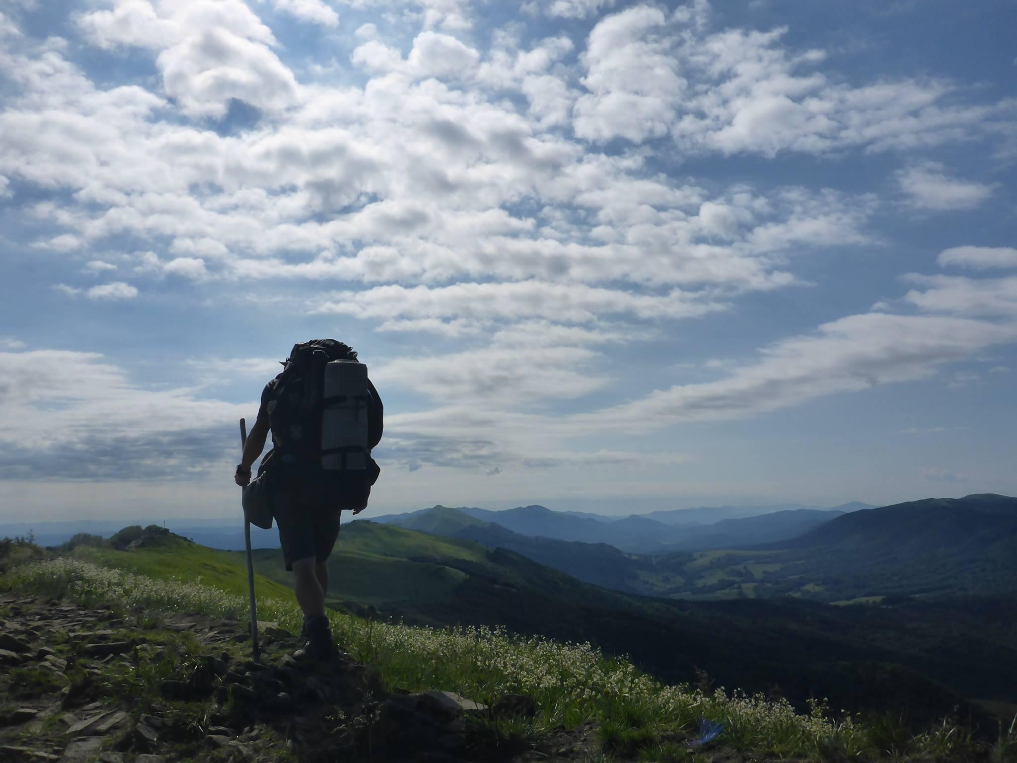 Je pas tôt afin d'avoir la montagne pour moi tout seul