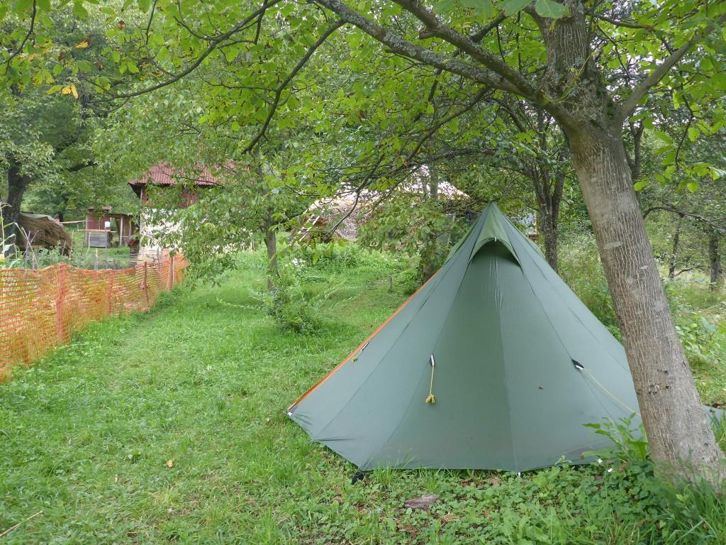 Pour ma part j'ai planté ma tente près du jardin