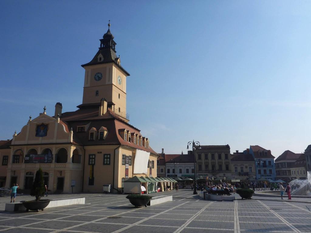 J'arrive à la ville de Brasov