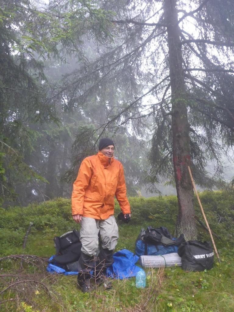 Pluie et 0 degré. Juste la pire condition en randonnée