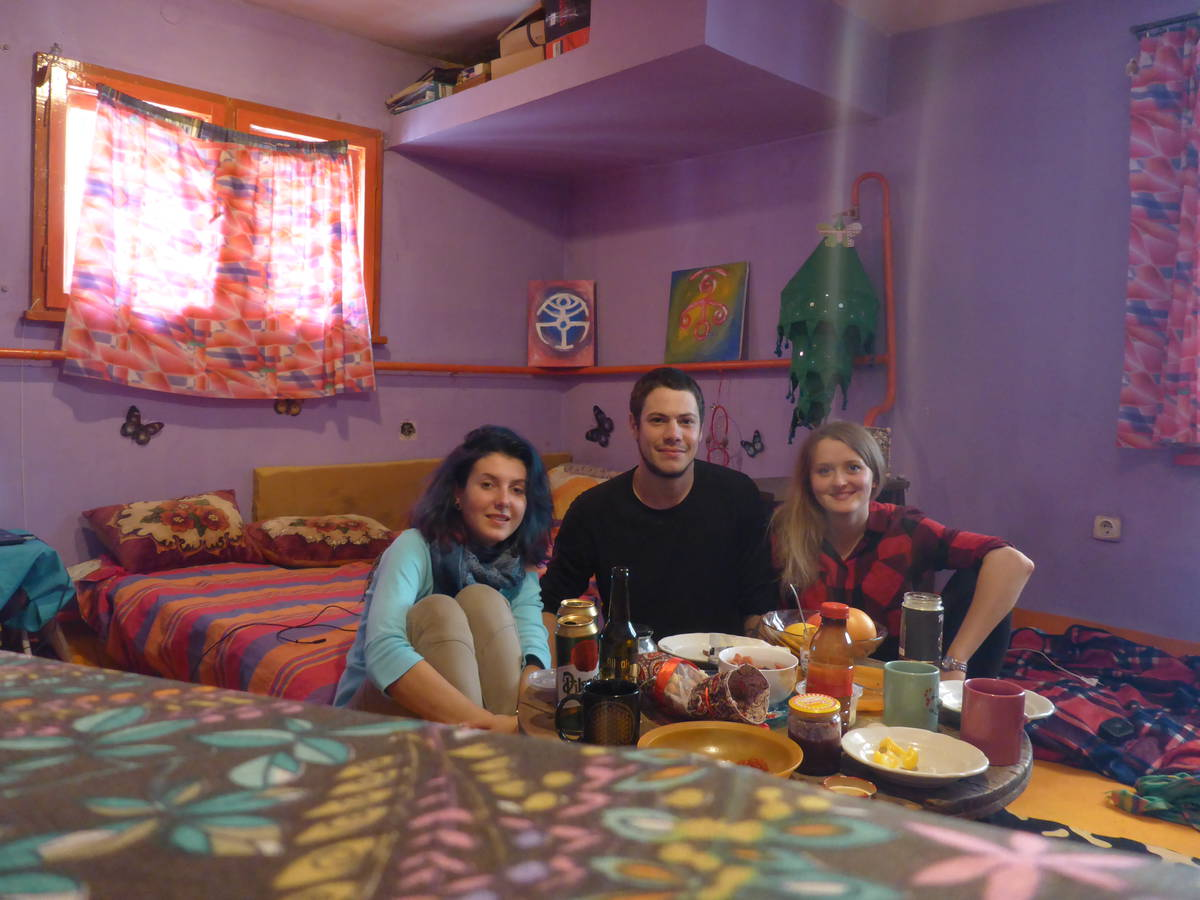 Je rencontre ensuite Anita qui m'héberge deux jours en compagnie de pleins d'autres couchsurfeur