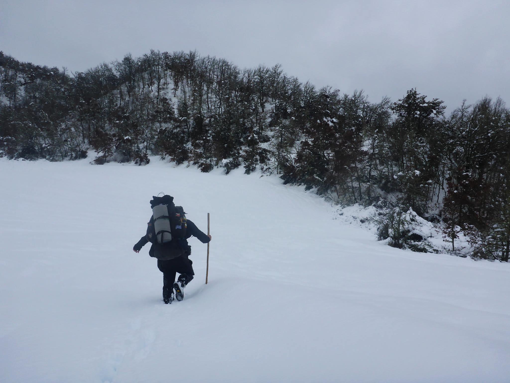 Voulant prendre un raccourci je galère dans 80 centimètres de neige horrible pendant plus de sept heures. Le tout pour faire cinq kilomètres !