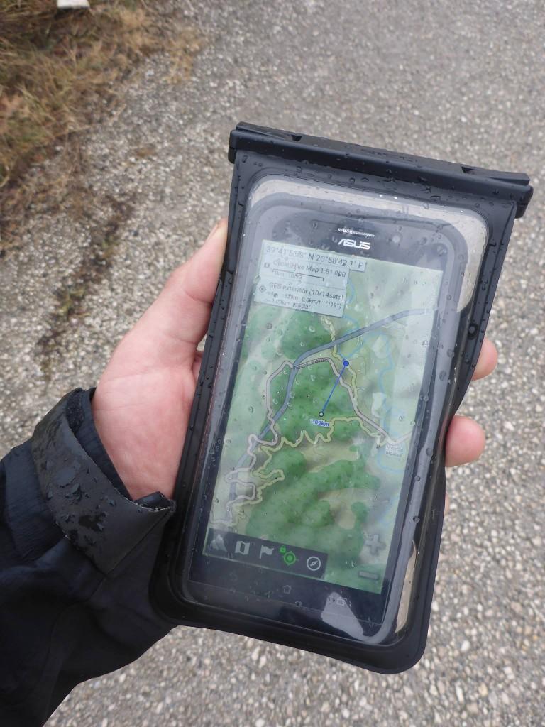 Mon nouveau gadget : Un smartphone d'une grande capacité de batterie avec un gps particulièrement génial