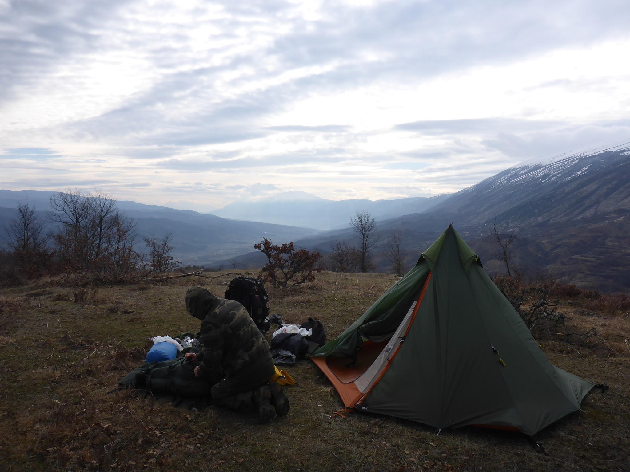 Notre premier bivouac sous tente