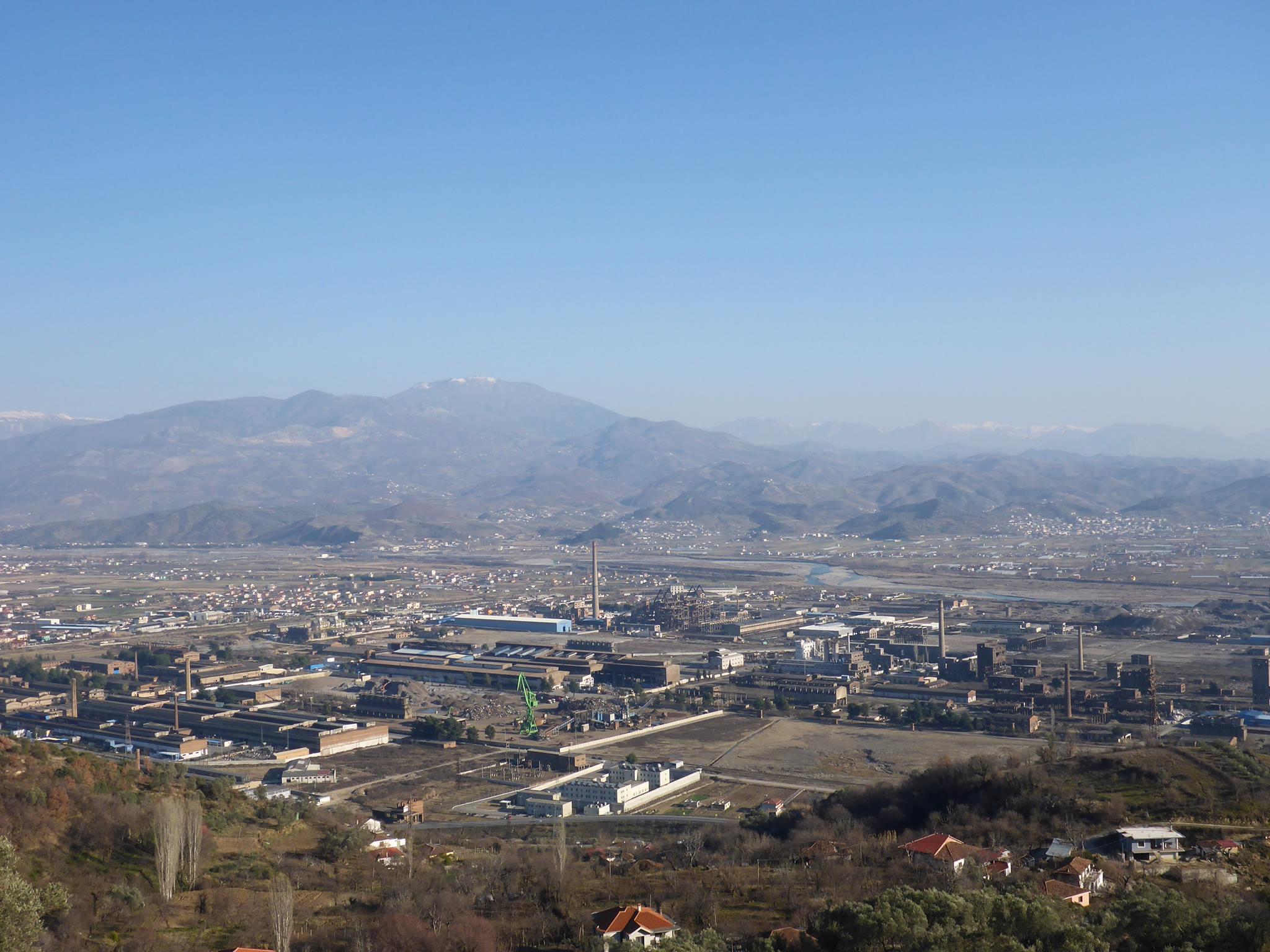 La ville d'Elbasan