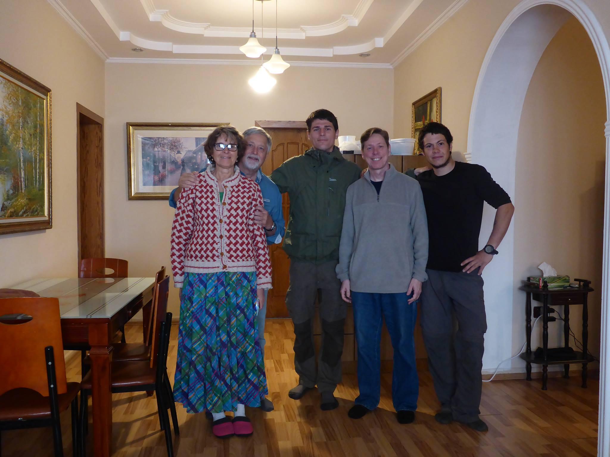 Nous restons deux jours en couchsurfing chez Joe et ces deux amis américain
