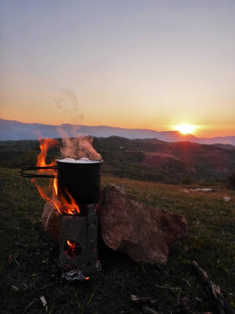 Le campement du premier soir m'apporte une grande joie de retrouvailles avec la nature