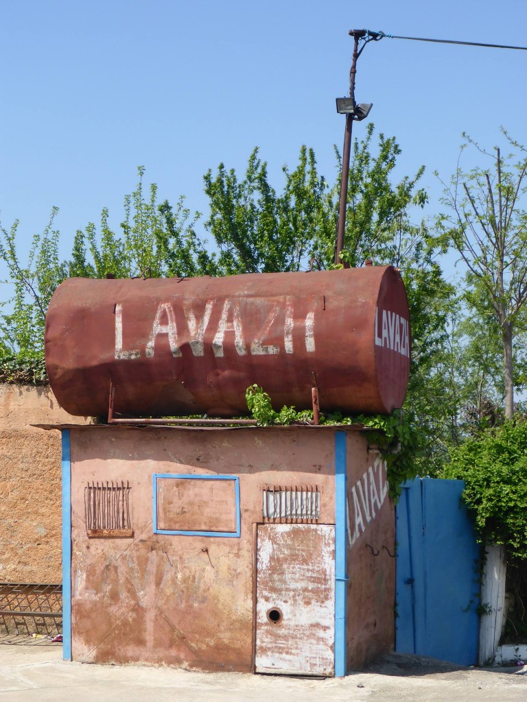 Une station de lavage du village de Burrel.