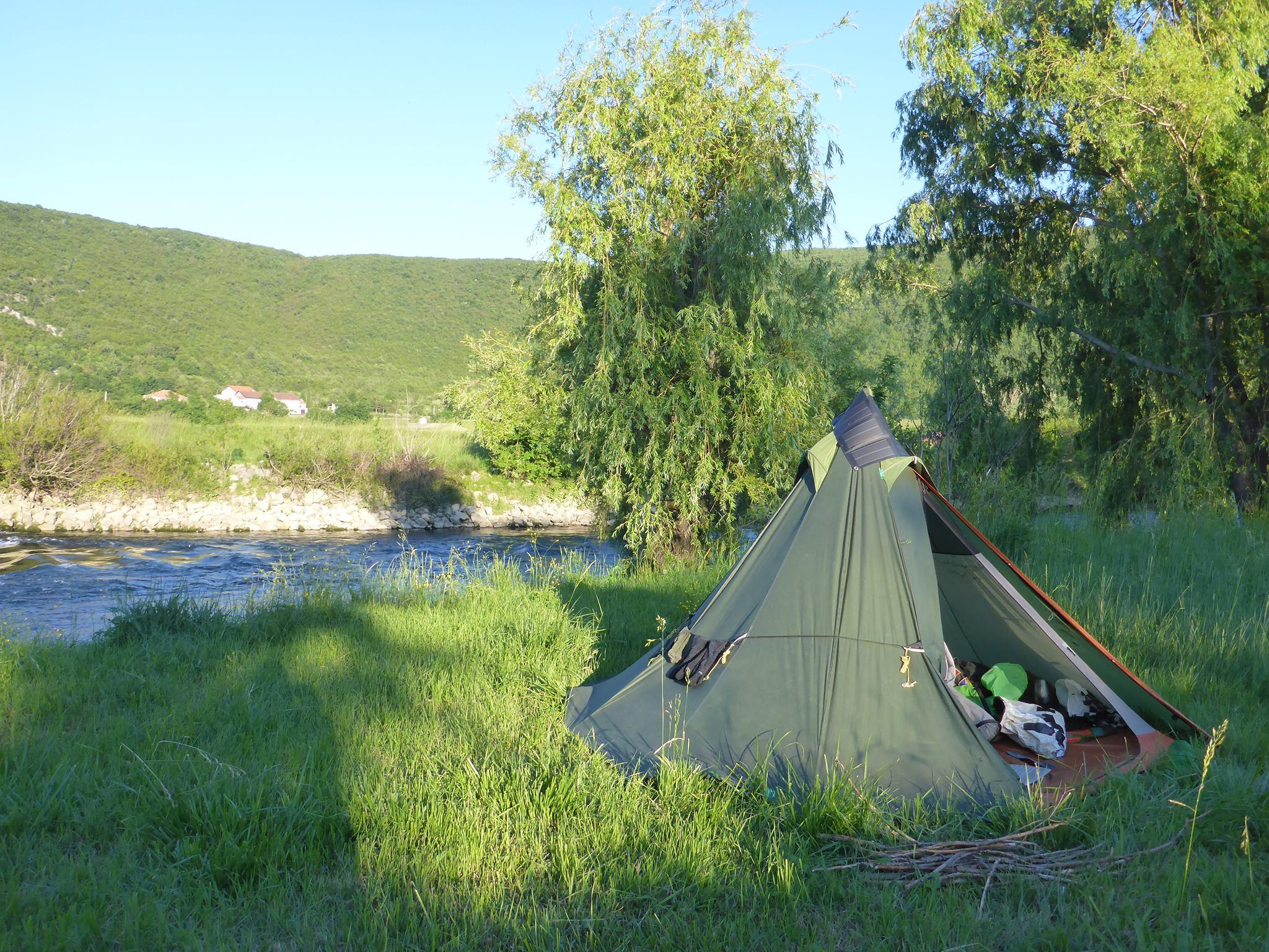 Je retrouve avec délice le plaisir des bivouacs près des rivières