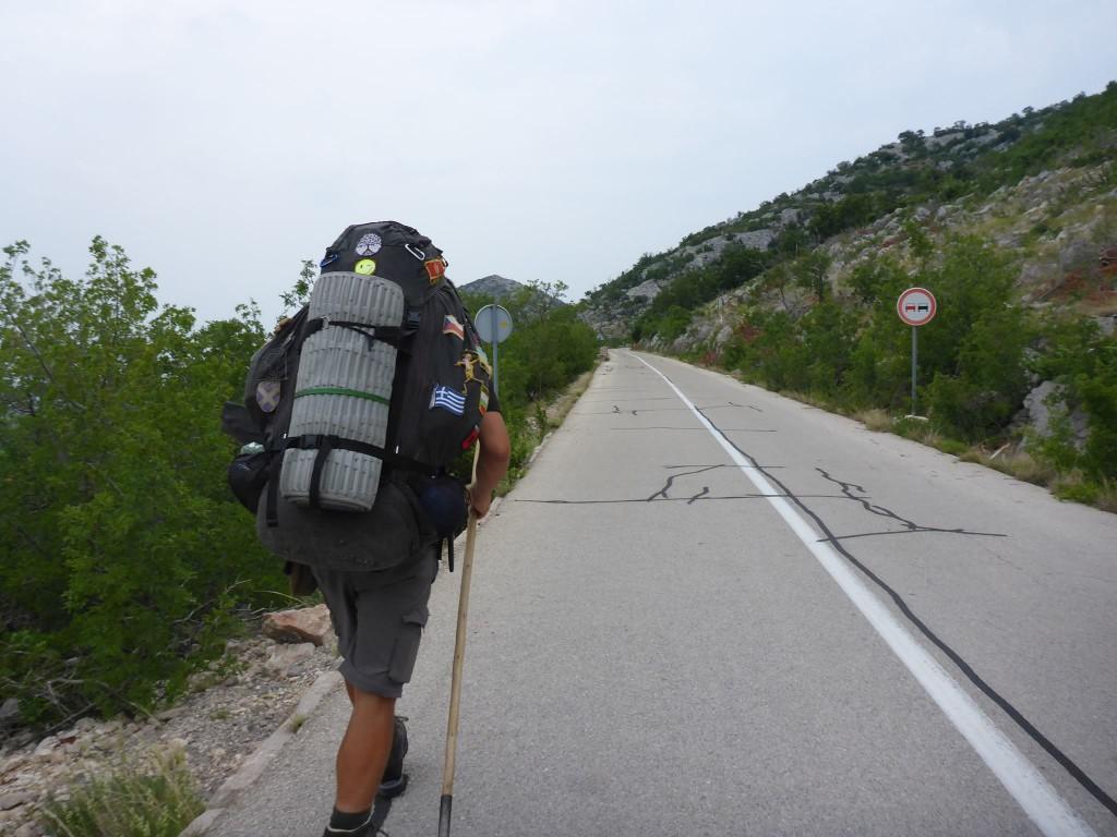 Nous rejoignons le massif des Velebit