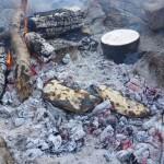 Chaussons chapatis cuits sous braises
