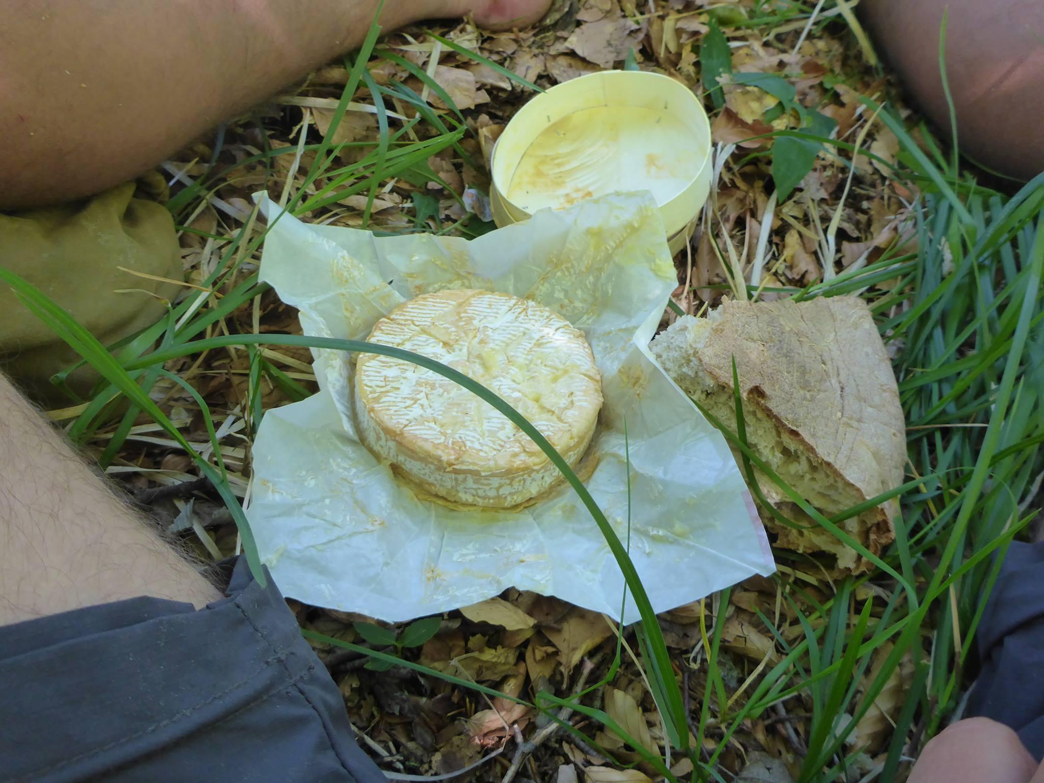 Un camembert ayant déja passé dix jours dans le sac à dos au chaud