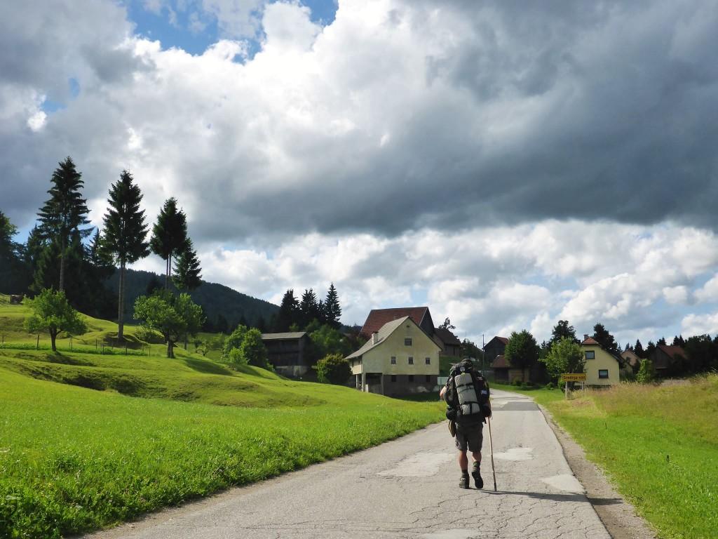 Quelques jours à marcher le long de belles routes de campagne