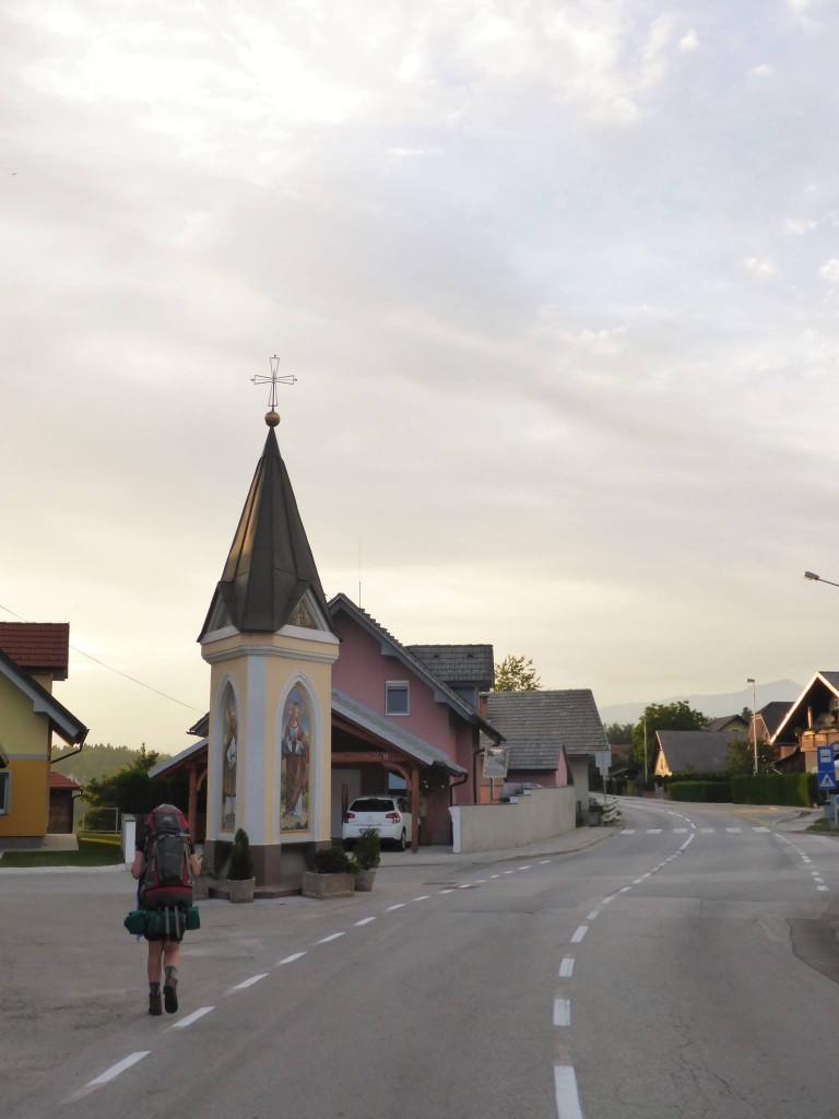 Nous prenons la direction de Bled, un village au pied des montagnes du Triglav