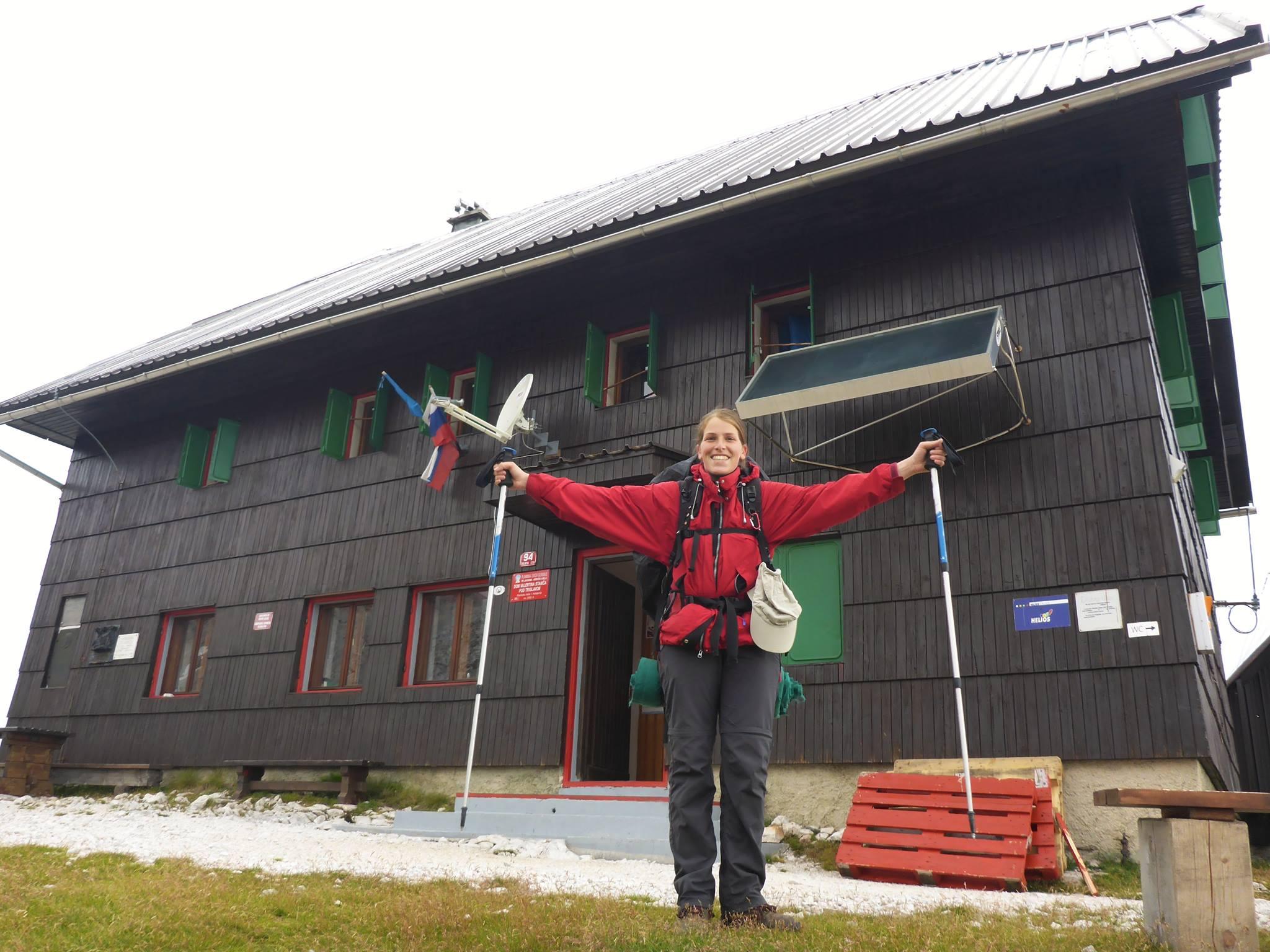 Nous atteignons le refuge, après 1300 mètres de dénivellé positif ! Bravo soeurette !