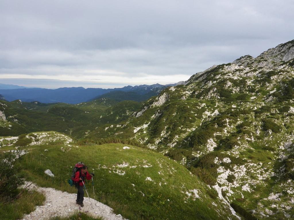 La deuxième partie du massif est bien plus facile et épargnée des autres randonneurs