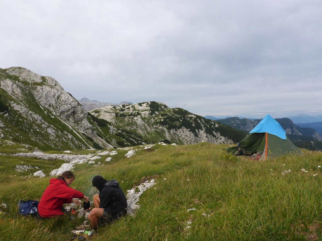 La dernière nuit dans les montagnes du Triglav