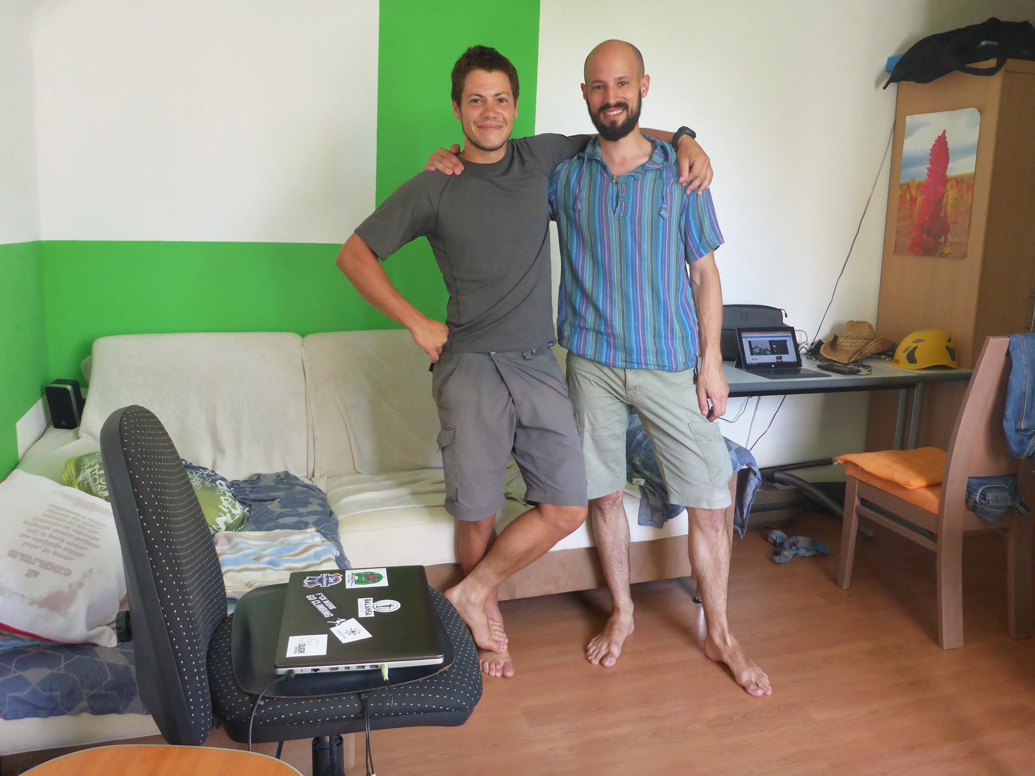 Je rencontre Miha par le site couchsurfing, qui devient par la suite un véritable ami.